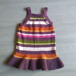{Gymboree} Fall Forest Striped Sweater Dress